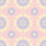 Floral seamless background. Pink, blue and yellow flower pattern. For wallpapers, textile and fabrics Royalty Free Stock Images