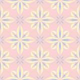 Floral seamless background. Pink, blue and yellow flower pattern. For wallpapers, textile and fabrics Royalty Free Stock Image
