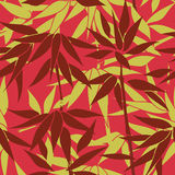 Floral seamless background. Plant leaf pattern. Floral seamless background. Bamboo leaf pattern. Floral decorative autumn seamless texture with leaves Royalty Free Stock Image