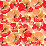 Floral seamless background. Red flower pattern. Royalty Free Stock Images