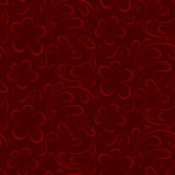 Floral seamless background. red pattern to burgundy background Royalty Free Stock Photos