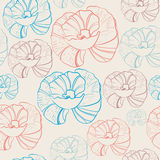 Floral seamless background in retro colors Royalty Free Stock Photography