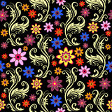 Floral seamless background (vector) Royalty Free Stock Photos