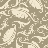 Floral seamless background. Vector seamless background with vintage floral elements Stock Images
