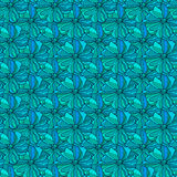 Floral seamless background. Seamless wallpaper pattern with abstract flowers Stock Image
