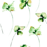 Floral seamless background.  watercolour illustration Royalty Free Stock Image