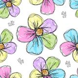 Floral seamless background for your design Royalty Free Stock Image