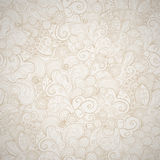 Floral seamless beige  background. Floral seamless beige abstract hand-drawn card. Vector eps10 background Royalty Free Stock Images
