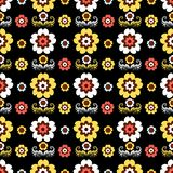 Floral seamless black pattern Stock Photography