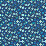 Floral seamless with blue flowers Royalty Free Stock Image