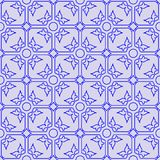 Floral seamless blue pattern Stock Images