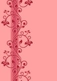 Floral seamless border. Abstract card Royalty Free Stock Photo