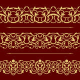 Floral seamless border Royalty Free Stock Image