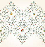 Floral seamless border in Eastern style. Royalty Free Stock Photo
