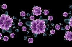Floral seamless border Royalty Free Stock Images