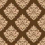 Floral seamless brown arabesque pattern Stock Photo