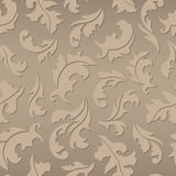 Floral seamless brown pattern Stock Photography