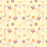 Floral  seamless with butterflies Royalty Free Stock Images