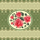 floral seamless card (roses) Stock Photography