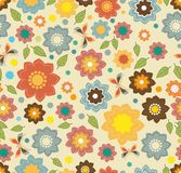 Floral seamless color pattern with flowers Stock Photography
