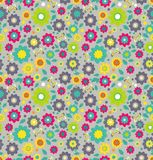 Floral seamless color pattern with flowers Royalty Free Stock Photo