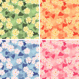 Floral seamless composition Stock Photos