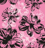Floral. Seamless Cosmos flowers background pattern Stock Photos