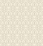 Floral seamless damask wallpaper Stock Photo