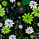 Floral seamless dark pattern Royalty Free Stock Photography