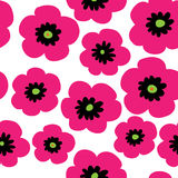 Floral seamless decorative pattern with pink poppies. Floral seamless decorative pattern with a pink poppies Stock Images