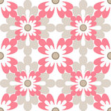 Floral seamless design pattern white texture background Royalty Free Stock Images