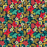 Floral seamless ethnical pattern Stock Image