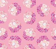 Floral seamless from flower bouquet Stock Photography