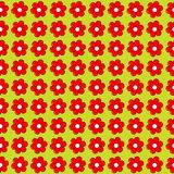 Floral seamless with flowers in a row side by side Stock Images