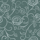 Floral seamless gray Royalty Free Stock Image