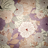 Floral Seamless Grunge Pattern Royalty Free Stock Photography