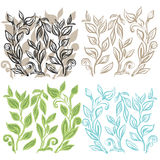 Floral seamless hand drawn background Royalty Free Stock Image