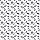 Floral seamless monochrome background Stock Photo