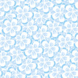 Floral seamless ornament. Peach flowers seamless ornament. Floral background in blue colors Stock Image