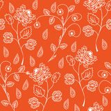 Floral seamless ornate pattern Royalty Free Stock Photos