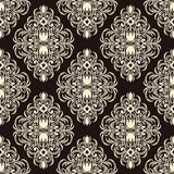 Floral seamless  ornate Wallpaper for design Royalty Free Stock Photos