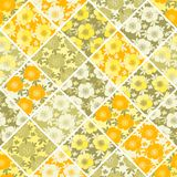 Floral seamless patchwork pattern. Bright summer flowers Royalty Free Stock Image