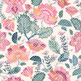 Floral seamless patter, provence style Stock Photos