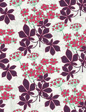 Floral seamless pattern. With styled flowers Stock Image