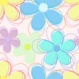 Floral seamless pattern. Seamless abstract natural preparation for the designer Stock Photos