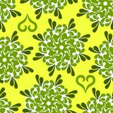 Floral seamless pattern. A floral green seamless pattern Stock Images