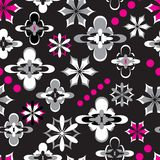 Floral Seamless Pattern. Funky flowers seamless pattern background Stock Photos