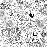 Floral seamless pattern. Universal template for greeting card, web page, background Royalty Free Stock Image
