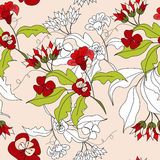 Floral seamless pattern. Universal template for greeting card, web page, background Stock Photography
