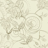 Floral seamless pattern. Universal template for greeting card, web page, background Royalty Free Stock Photo